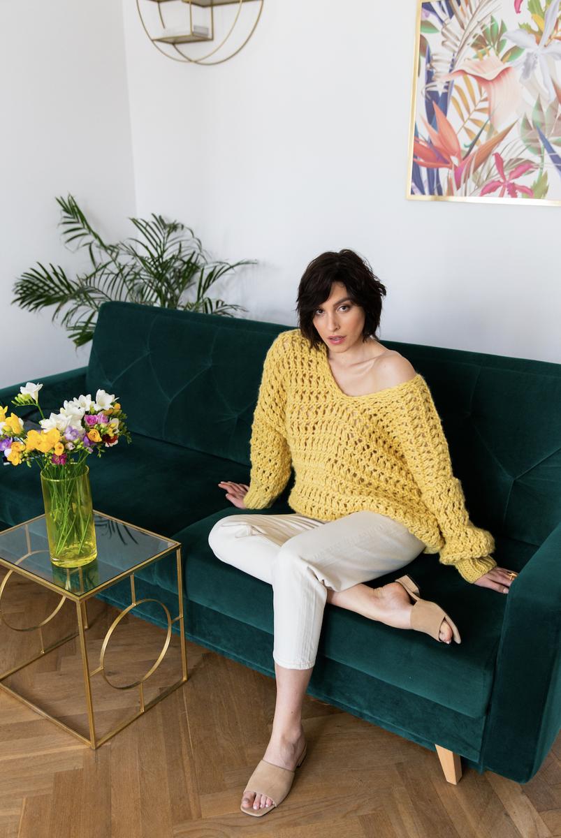 Sweter MORCA żółty, długi